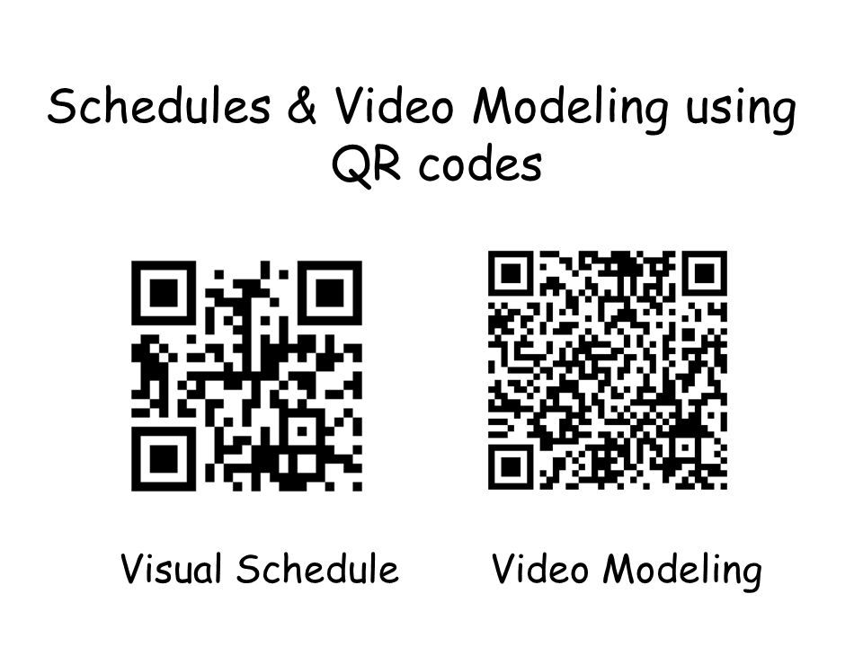 Schedules & Video Modeling using QR codes