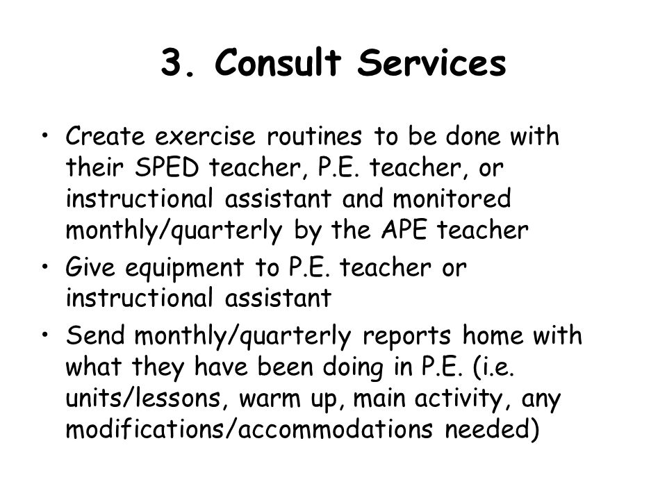 3. Consult Services