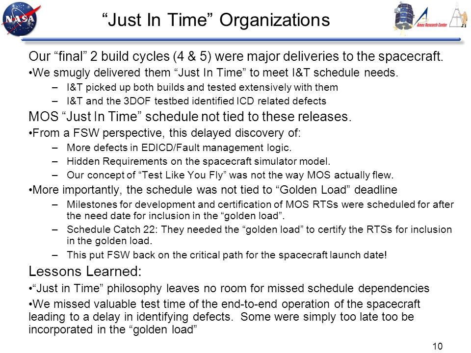 Just In Time Organizations