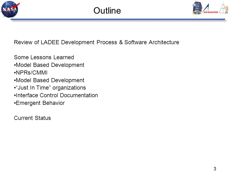 Outline Review of LADEE Development Process & Software Architecture