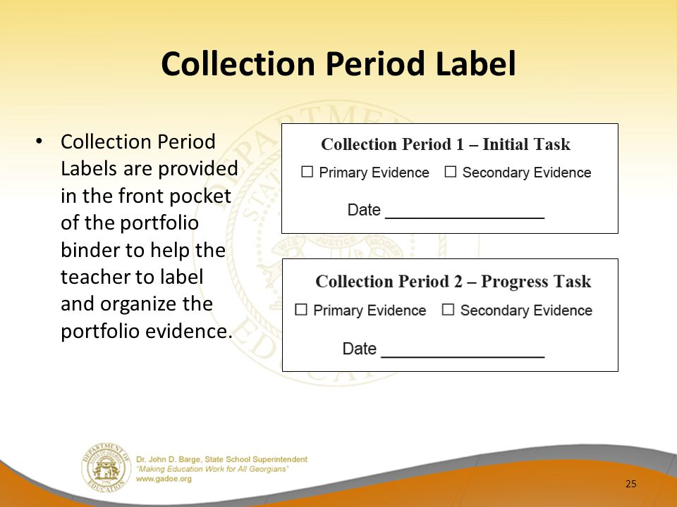 Collection Period Label