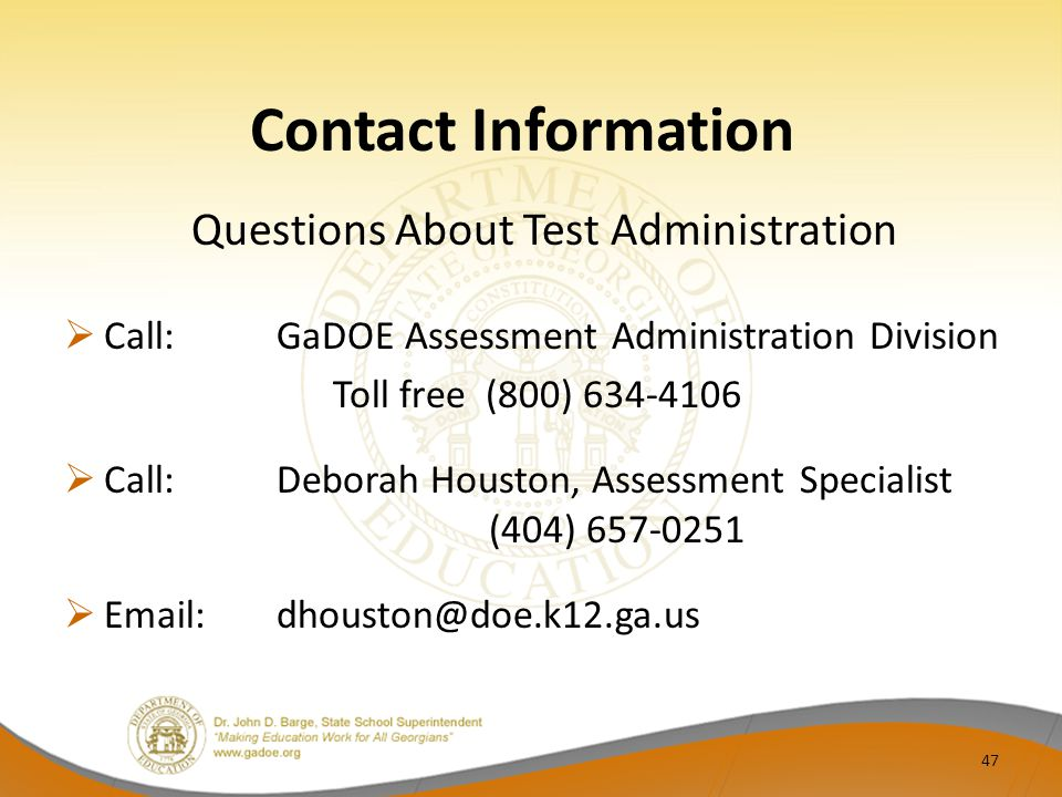 Questions About Test Administration