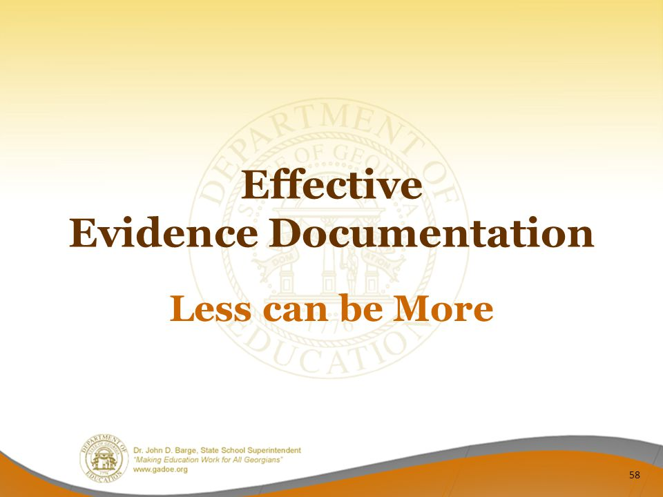 Effective Evidence Documentation