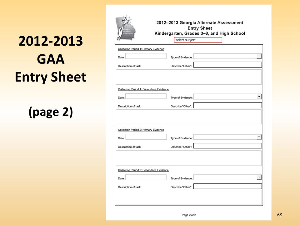2012-2013 GAA Entry Sheet (page 2)