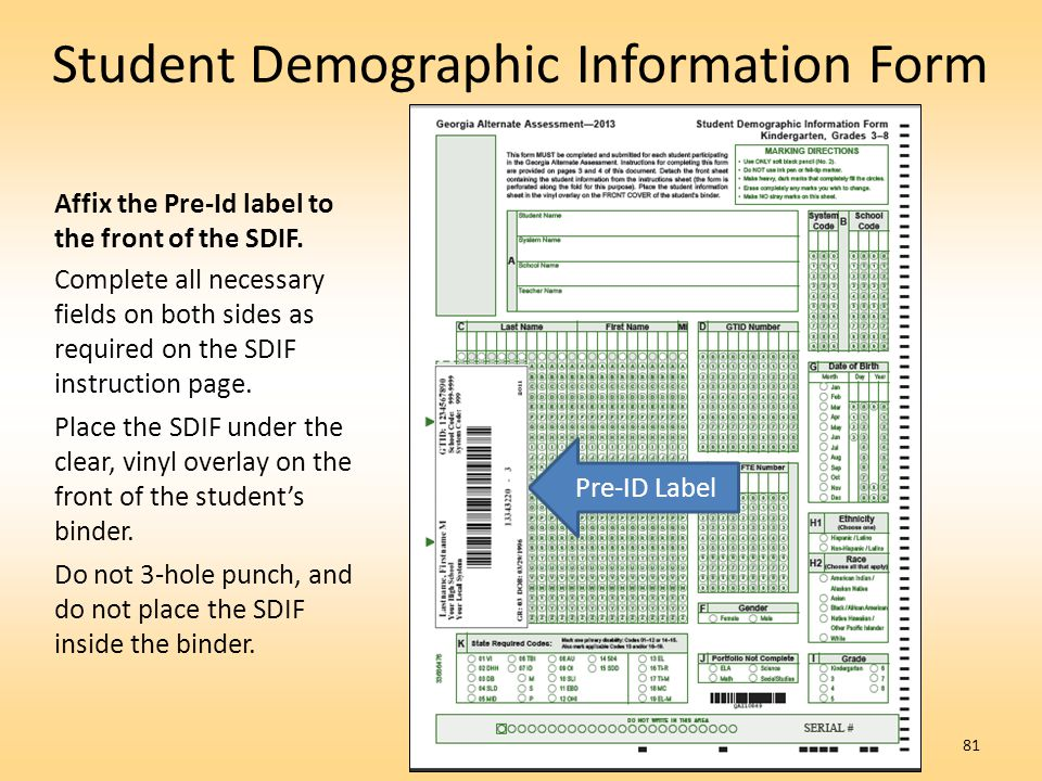Student Demographic Information Form