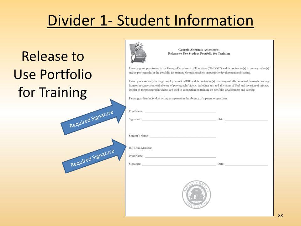 Divider 1- Student Information