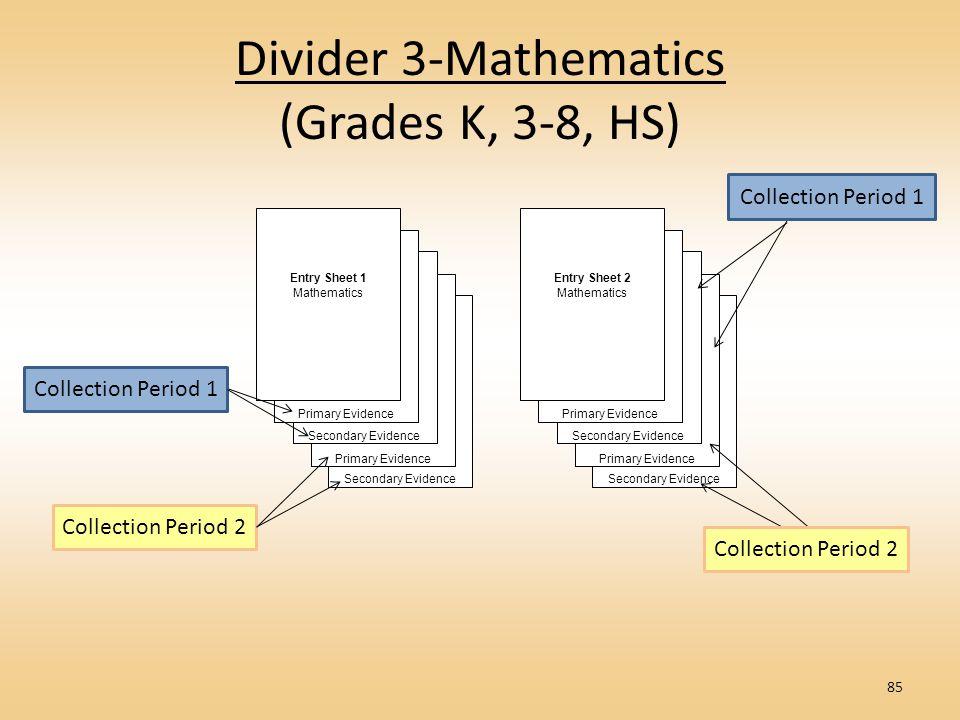 Divider 3-Mathematics (Grades K, 3-8, HS)