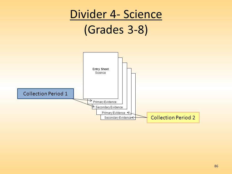 Divider 4- Science (Grades 3-8)
