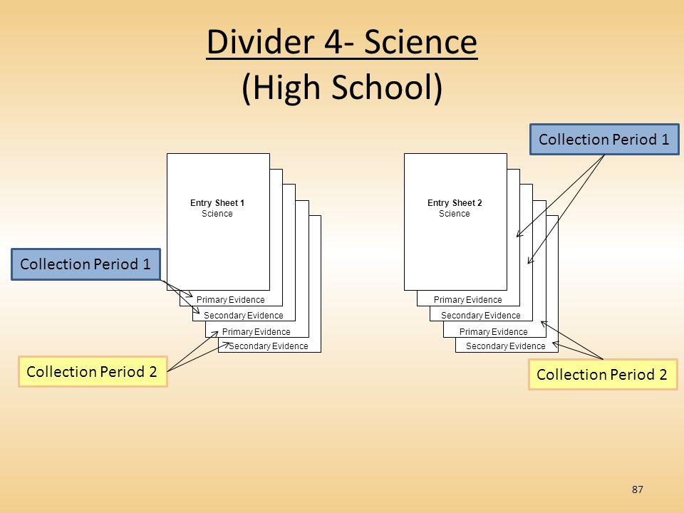 Divider 4- Science (High School)
