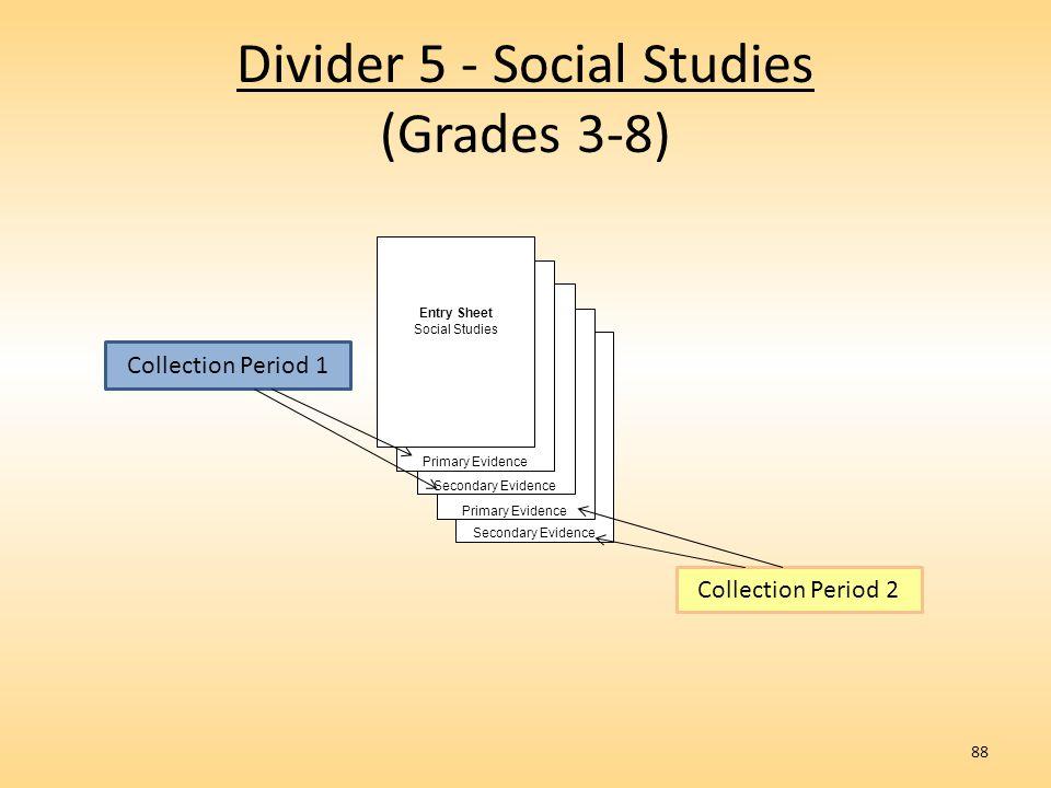 Divider 5 - Social Studies (Grades 3-8)