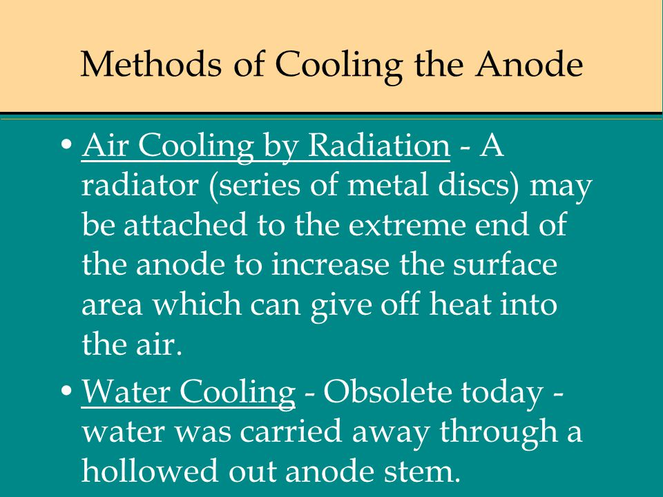 Methods of Cooling the Anode