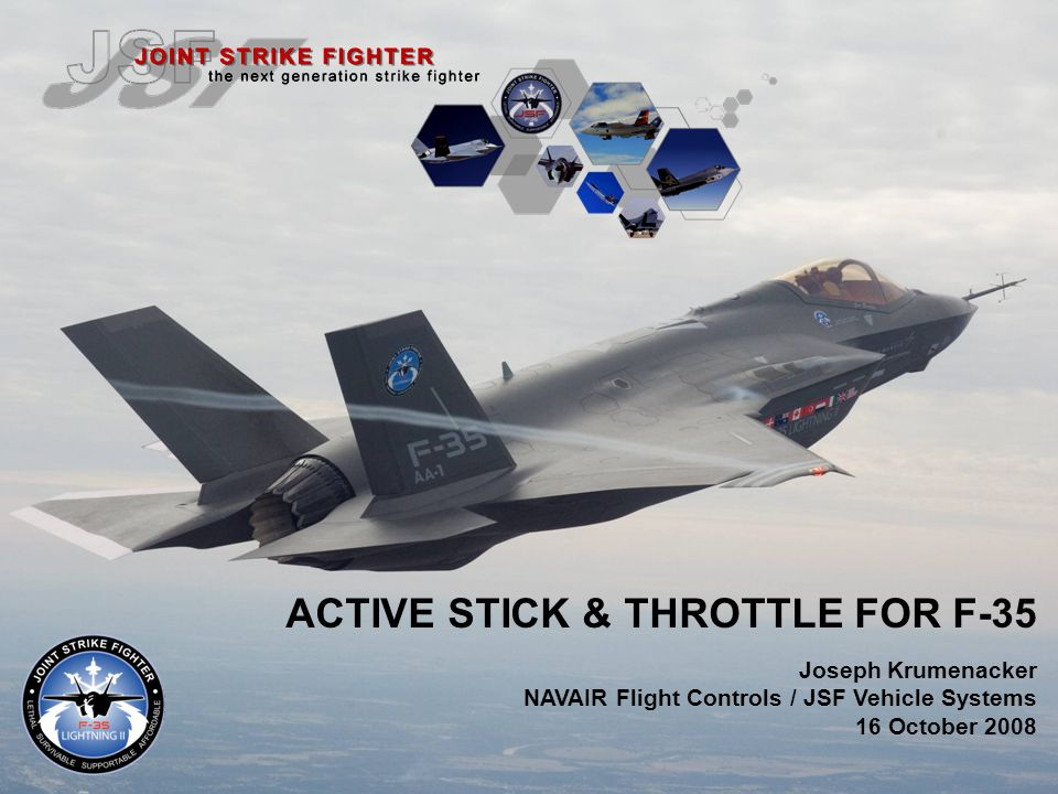 ACTIVE STICK & THROTTLE FOR F-35