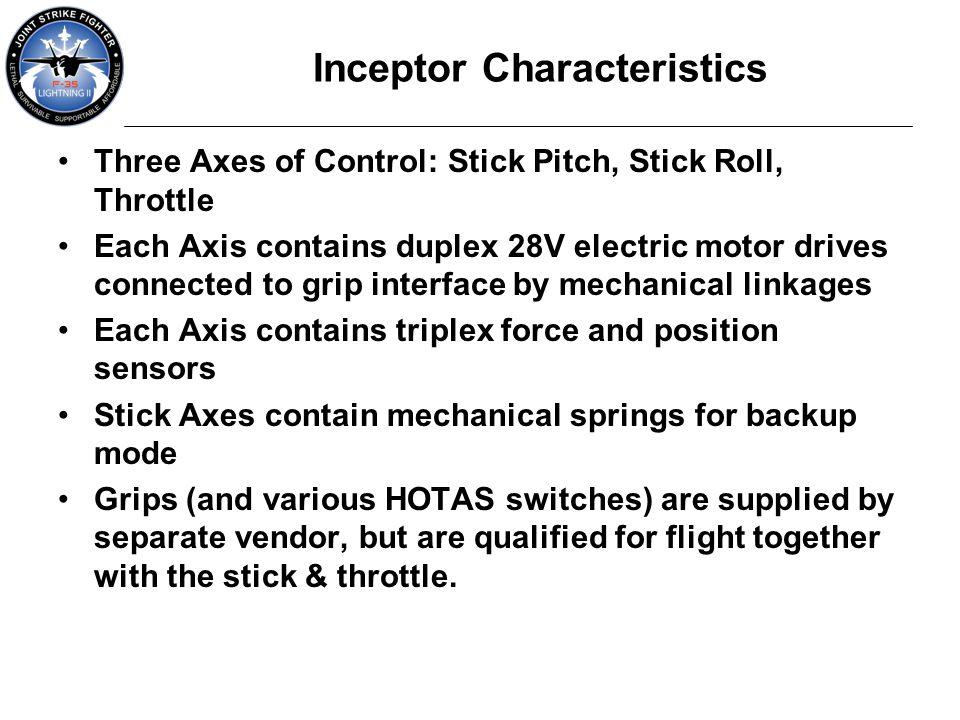 Inceptor Characteristics