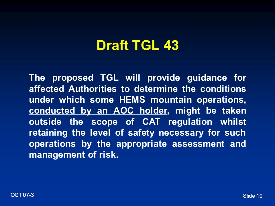 Draft TGL 43