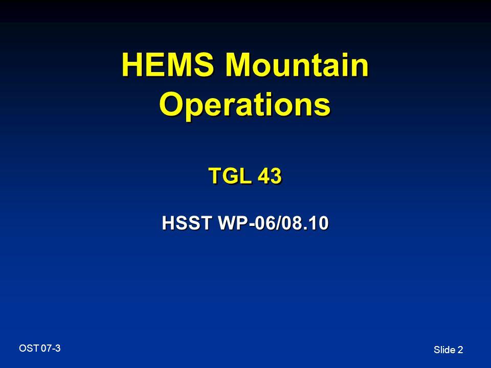 HEMS Mountain Operations TGL 43