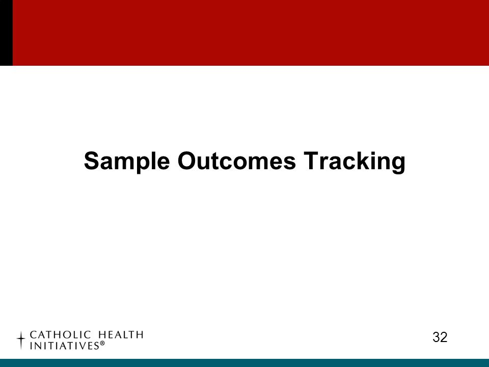 Sample Outcomes Tracking