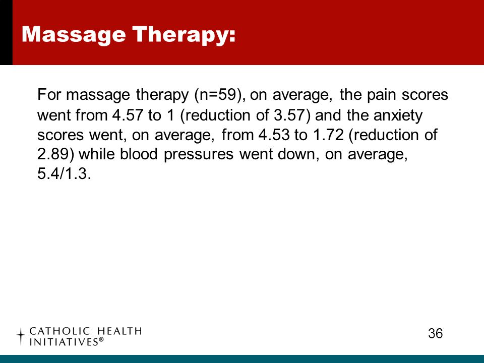 Massage Therapy: