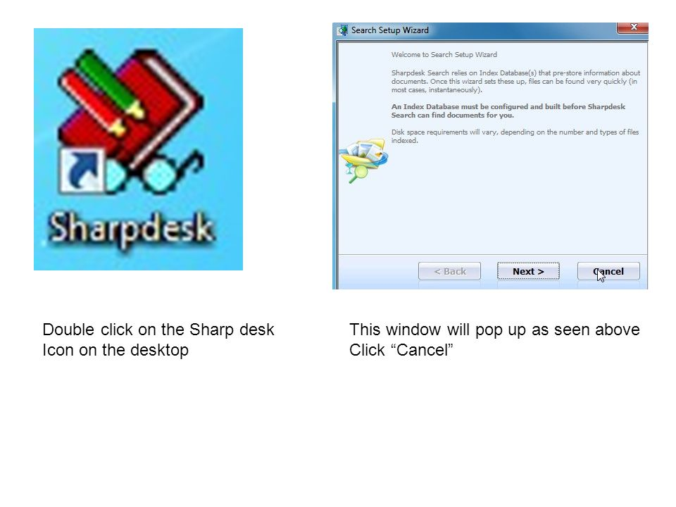 Double click on the Sharp desk
