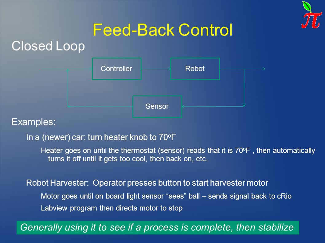 Feed-Back Control Closed Loop Examples:
