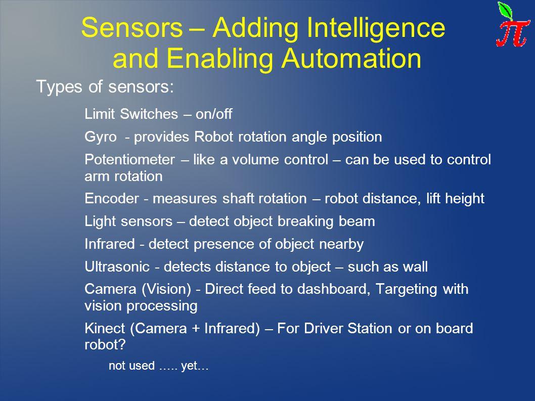 Sensors – Adding Intelligence and Enabling Automation
