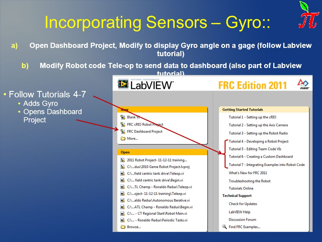 Incorporating Sensors – Gyro::