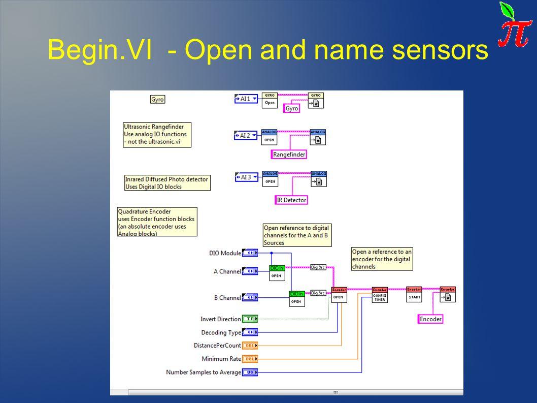Begin.VI - Open and name sensors