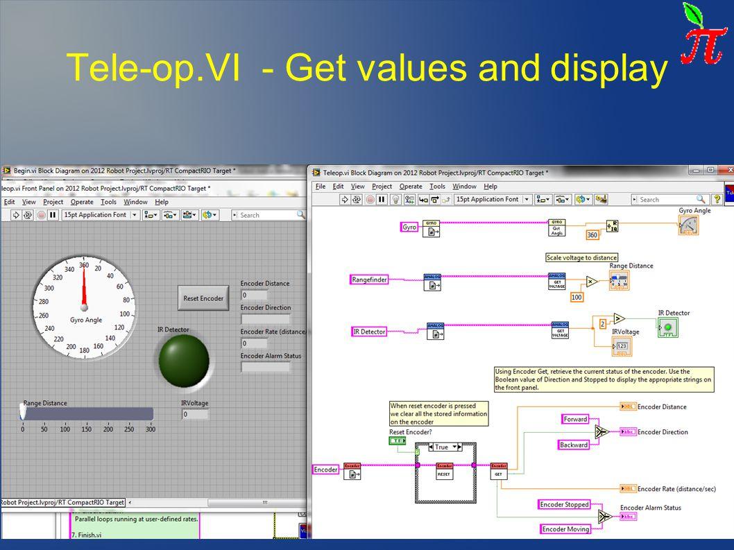 Tele-op.VI - Get values and display