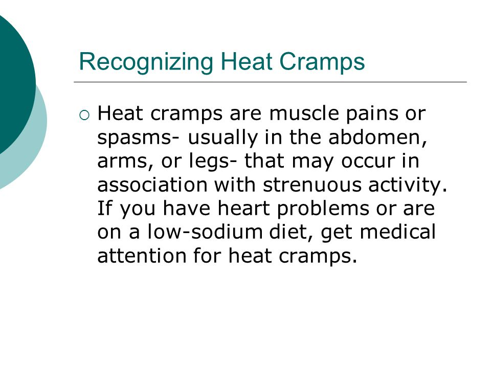 Recognizing Heat Cramps