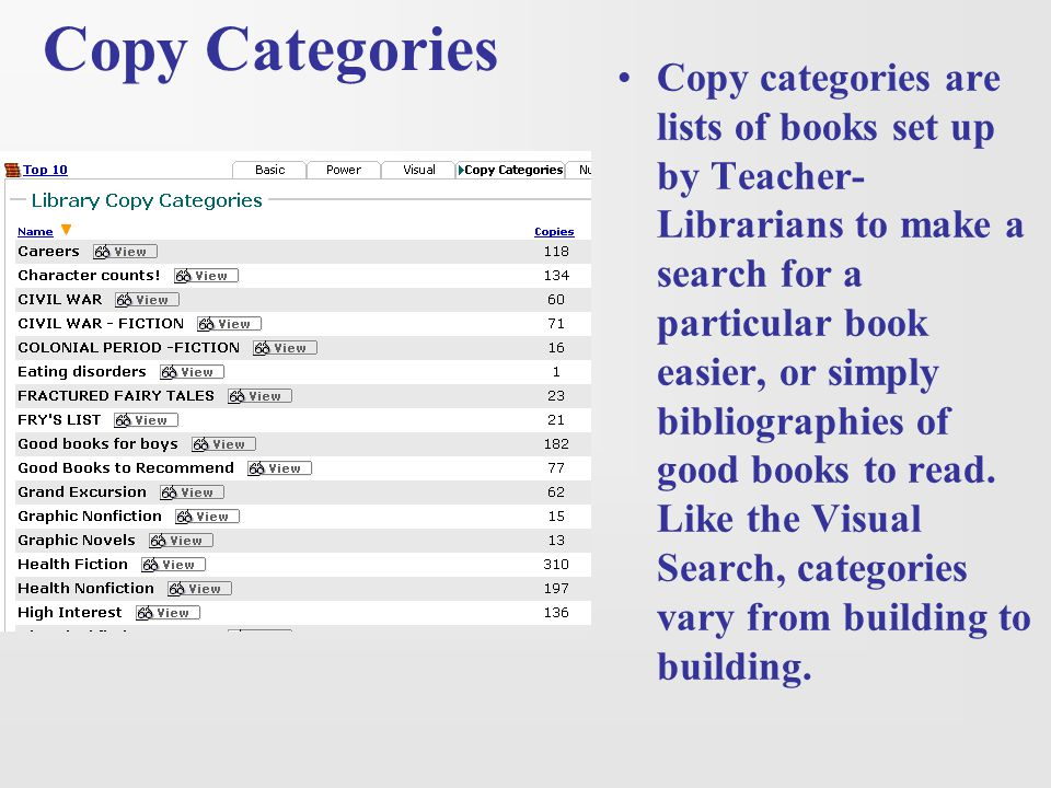 Copy Categories