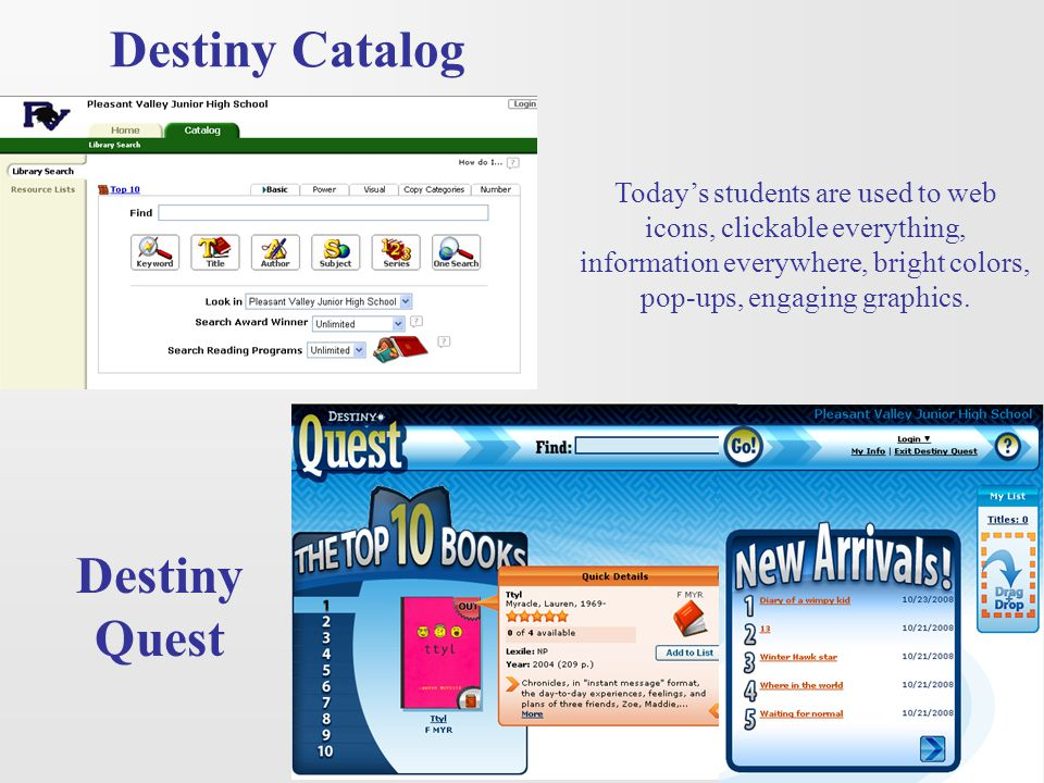 Destiny Catalog Destiny Quest