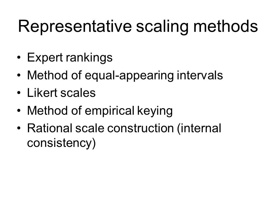 Representative scaling methods