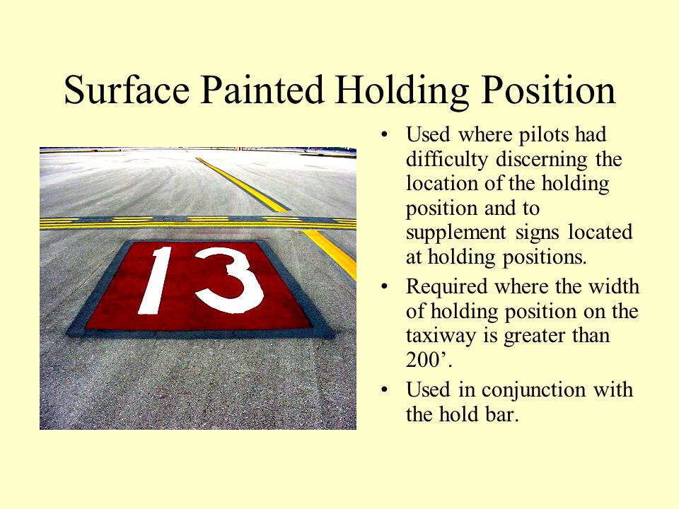 Surface Painted Holding Position