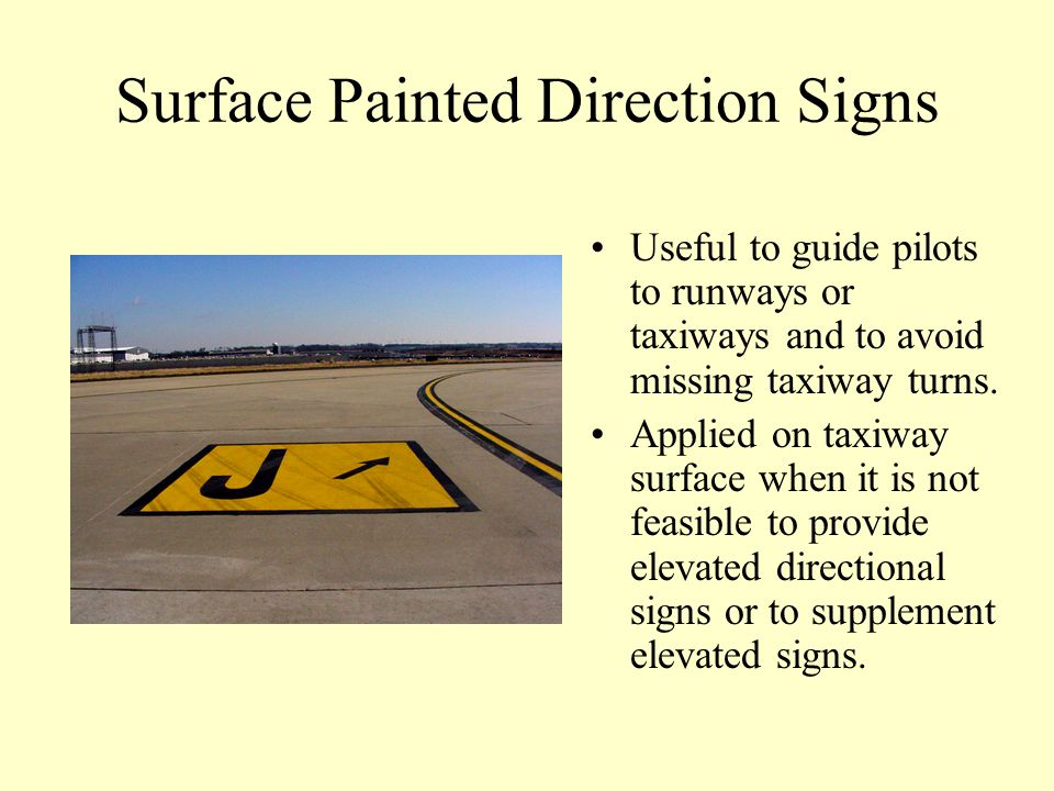 Surface Painted Direction Signs