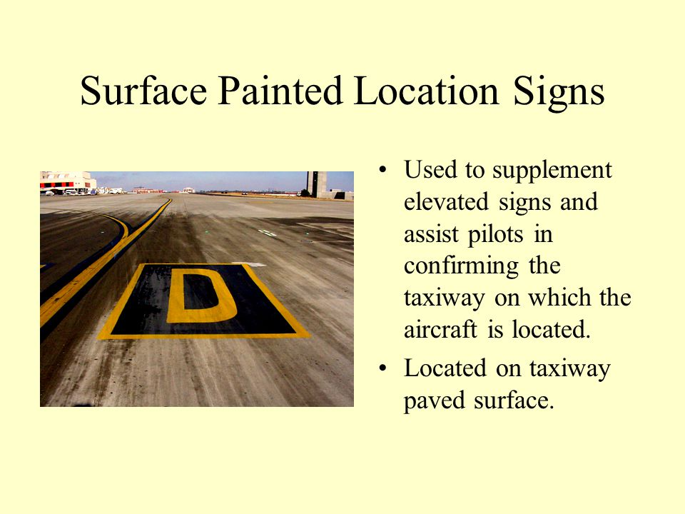 Surface Painted Location Signs