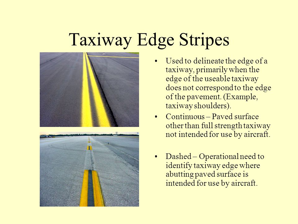 Taxiway Edge Stripes
