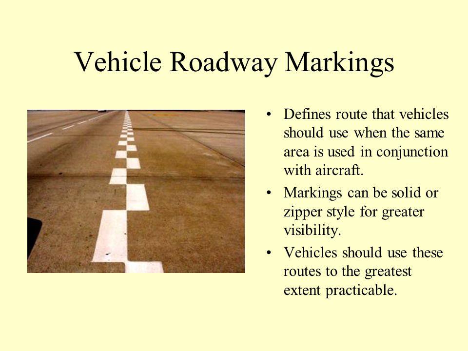 Vehicle Roadway Markings