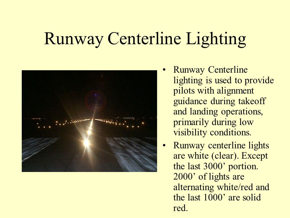 Runway Centerline Lighting