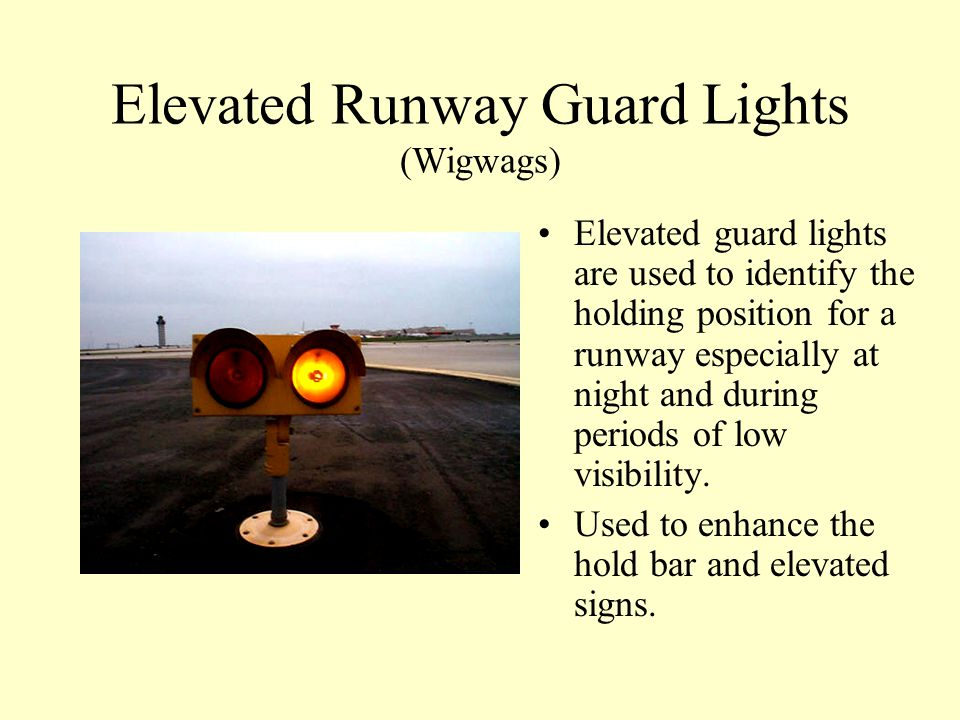 Elevated Runway Guard Lights (Wigwags)