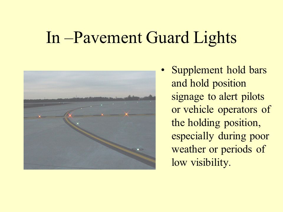 In –Pavement Guard Lights