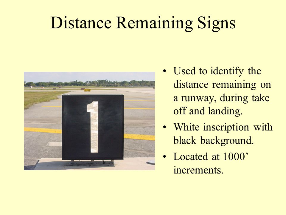 Distance Remaining Signs