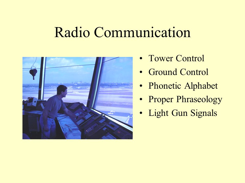 Radio Communication Tower Control Ground Control Phonetic Alphabet