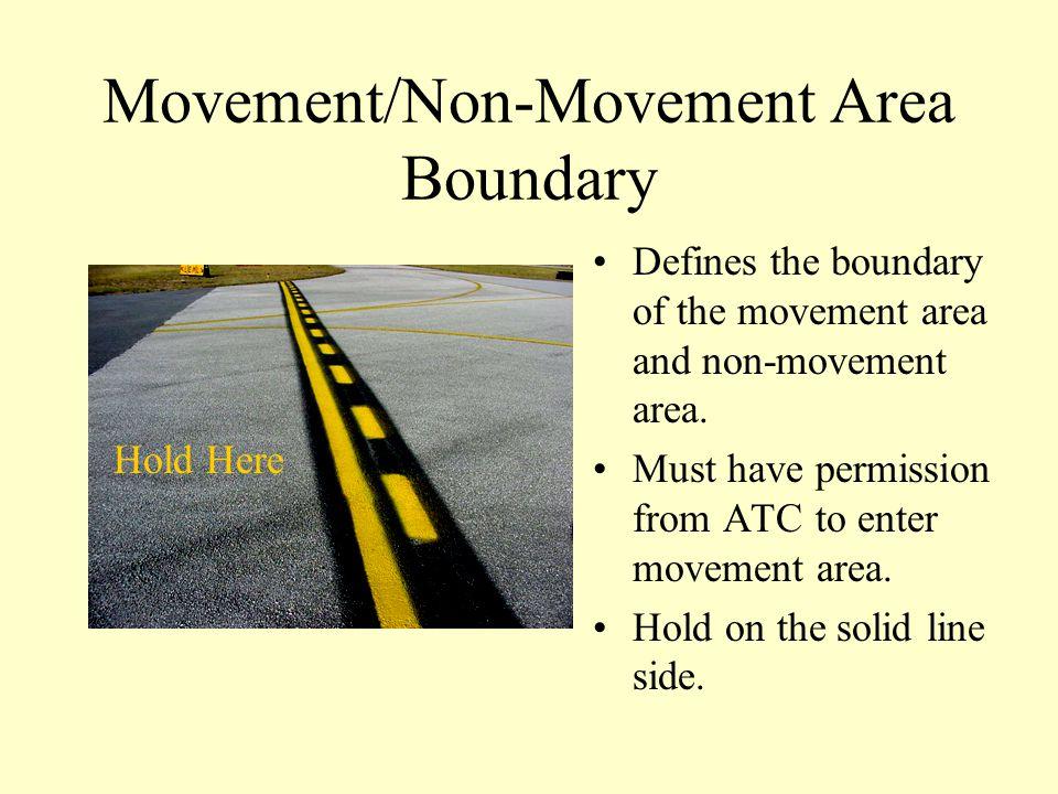 Movement/Non-Movement Area Boundary