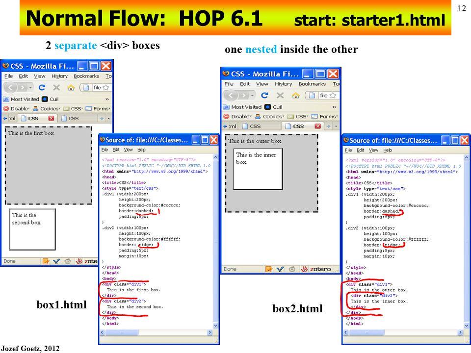 Normal Flow: HOP 6.1 start: starter1.html