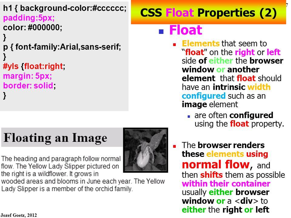 CSS Float Properties (2)