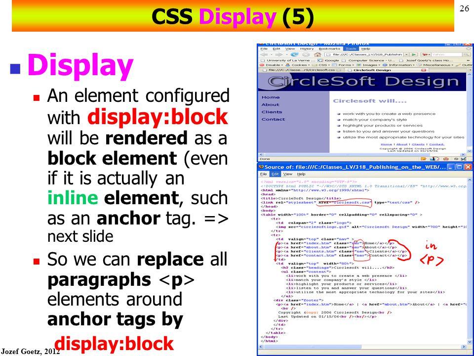 CSS Display (5) Display.