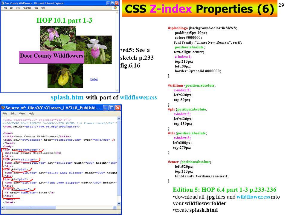 CSS Z-index Properties (6)