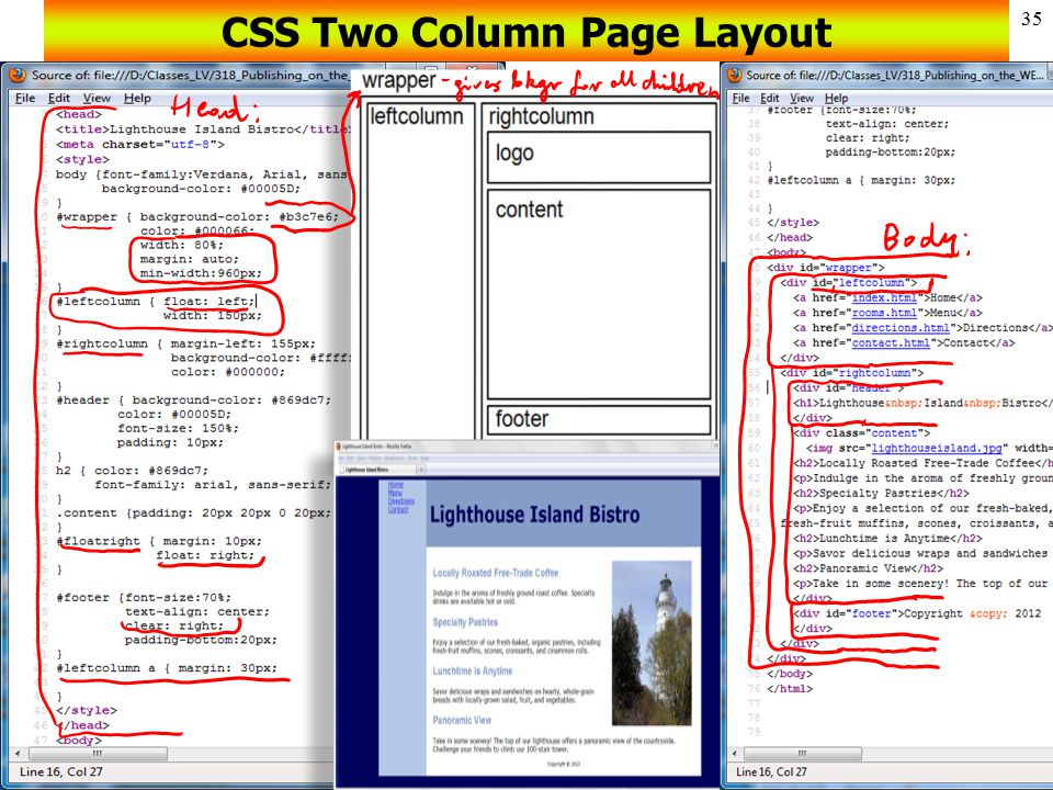 CSS Two Column Page Layout