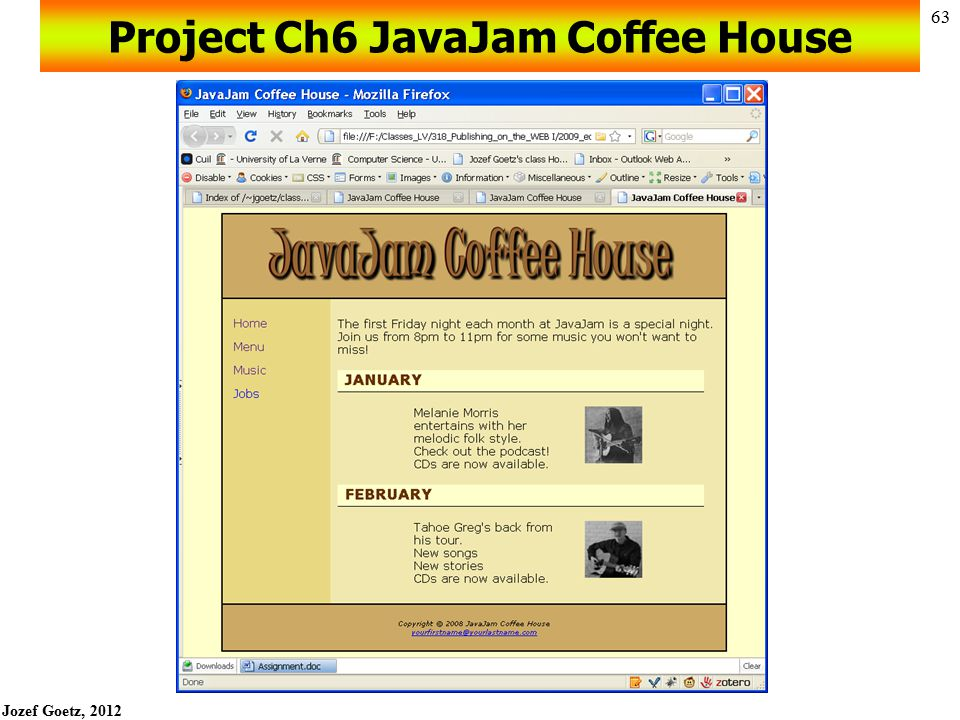 Project Ch6 JavaJam Coffee House