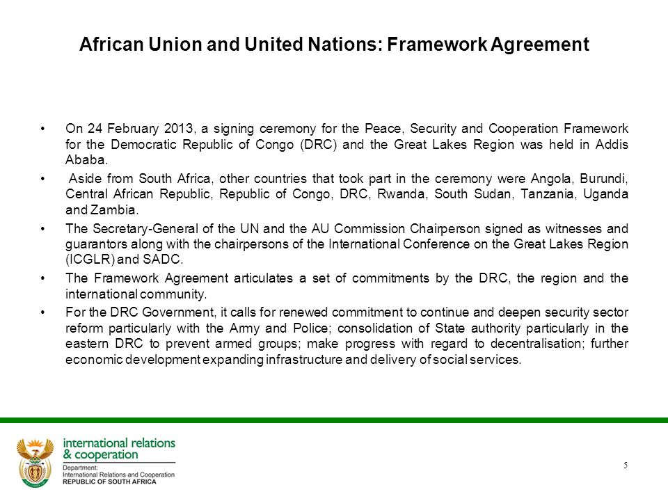 African Union and United Nations: Framework Agreement