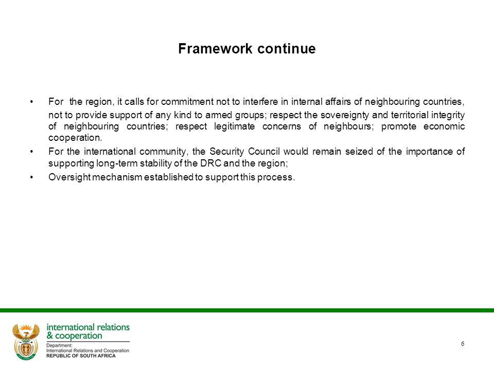 Framework continue